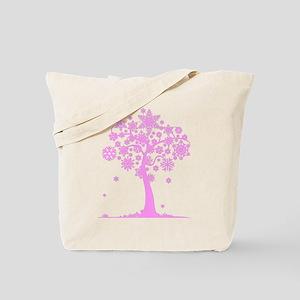 Winter Snowflake Tree Tote Bag