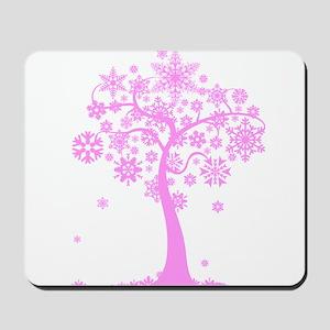 Winter Snowflake Tree Mousepad