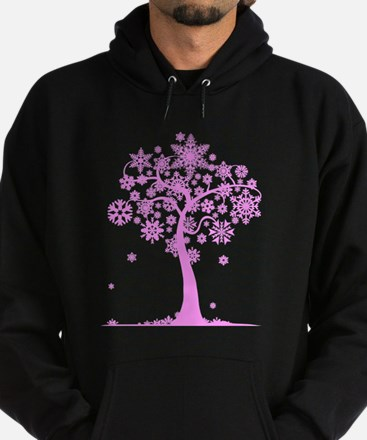 Winter Snowflake Tree Hoodie (dark)