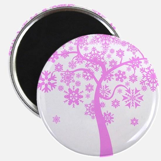 "Winter Snowflake Tree 2.25"" Magnet (10 pack)"