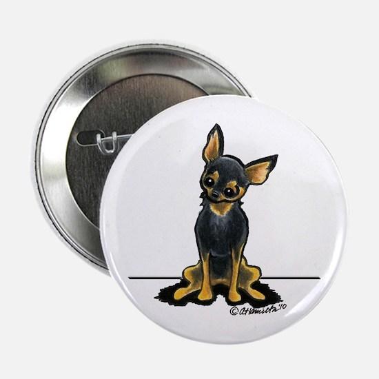 "B/T Chihuahua Sit Pretty 2.25"" Button"