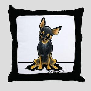 B/T Chihuahua Sit Pretty Throw Pillow