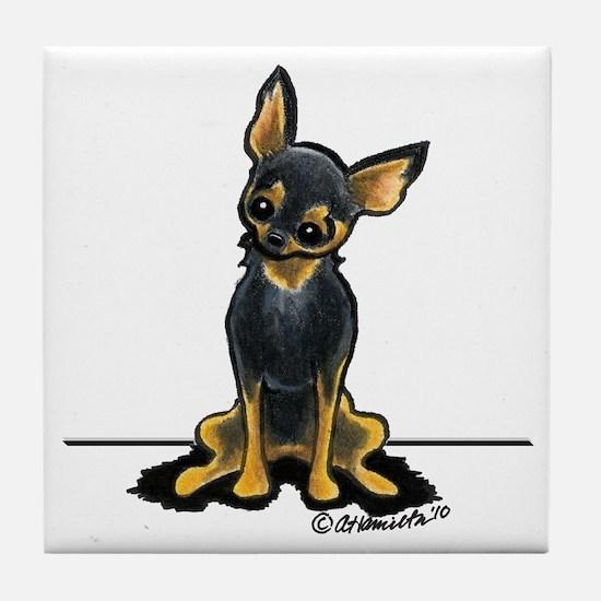 B/T Chihuahua Sit Pretty Tile Coaster