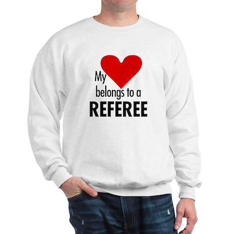Heart belongs, referee Sweatshirt