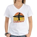 Summer Surfer Women's V-Neck T-Shirt