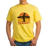 Summer Surfer Yellow T-Shirt