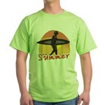Summer Surfer Green T-Shirt
