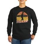 Summer Surfer Long Sleeve Dark T-Shirt