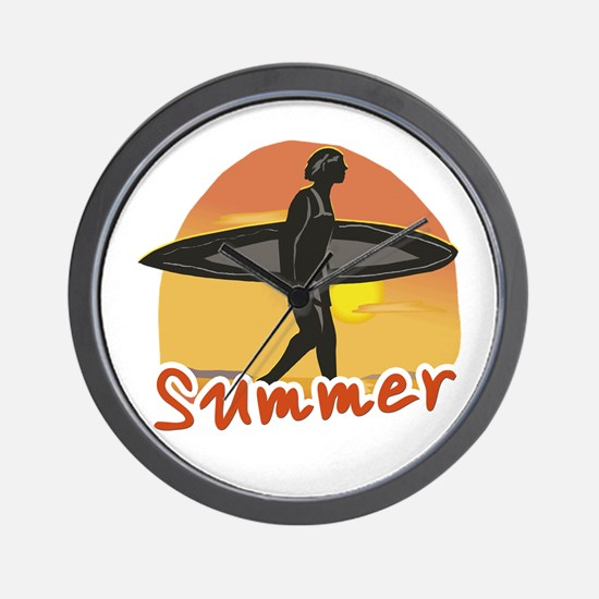 Summer Surfer Wall Clock