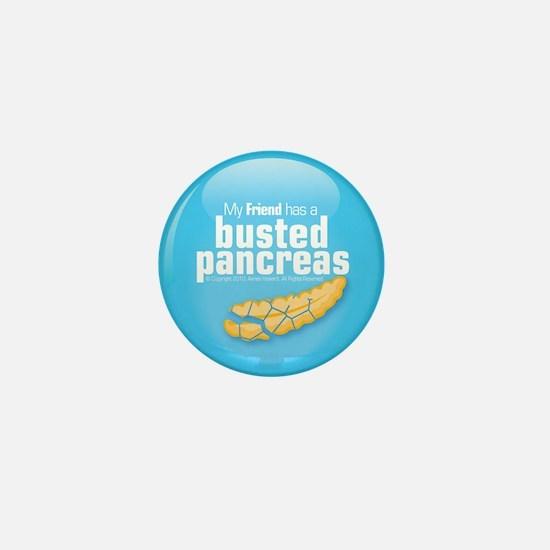 My friend has a busted pancreas mini button