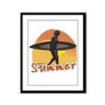 Summer Surfer Framed Panel Print