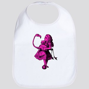 Alice and Flamingo Pink Fill Bib