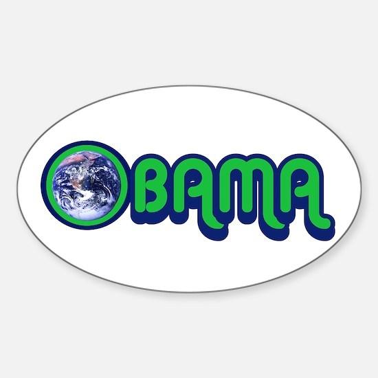 Obama World Sticker (Oval)
