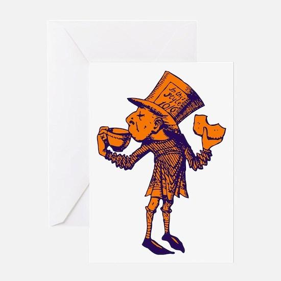 Haigha Purple Orange Greeting Card