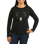 Deer skull Women's Long Sleeve Dark T-Shirt