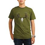 Deer skull Organic Men's T-Shirt (dark)