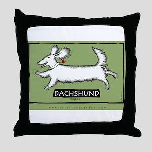Dancing Dachshund - Longhair Throw Pillow