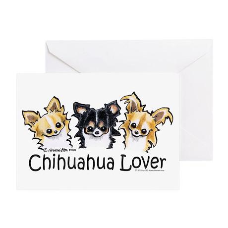 Longhair Chihuahua Lover Greeting Card