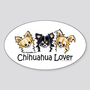 Longhair Chihuahua Lover Sticker (Oval)