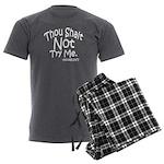 Thou Shalt Not Try Me Men's Charcoal Pajamas