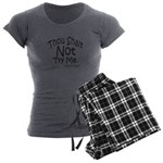 Thou Shalt Not Try Me Women's Charcoal Pajamas