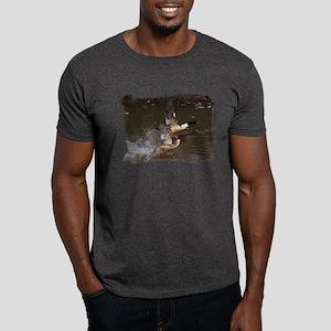 Merganser's Take-off by BuffaloWorks Dark T-Shirt