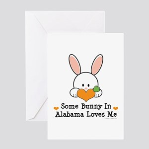 Some Bunny In Alabama Loves Me Greeting Card