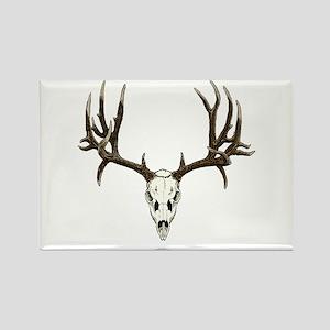 Deer skull Rectangle Magnet