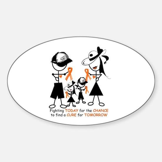 Leukemia Awareness Sticker (Oval)