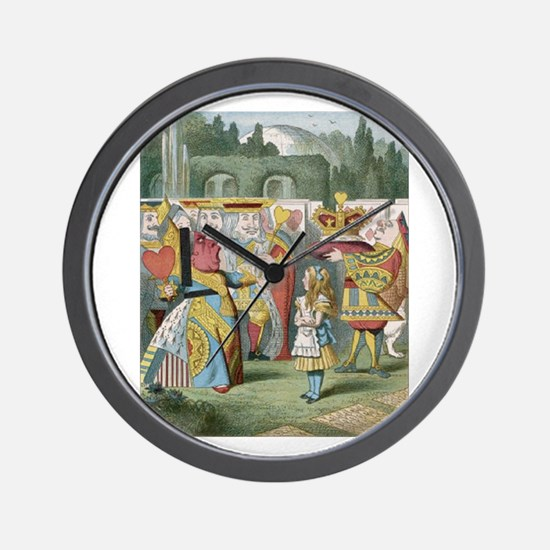 Alice and the Queen Wall Clock
