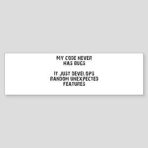 bugFreeCode Bumper Sticker