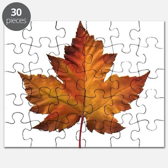Canada Souvenir Maple Leaf Gifts Art Puzzle