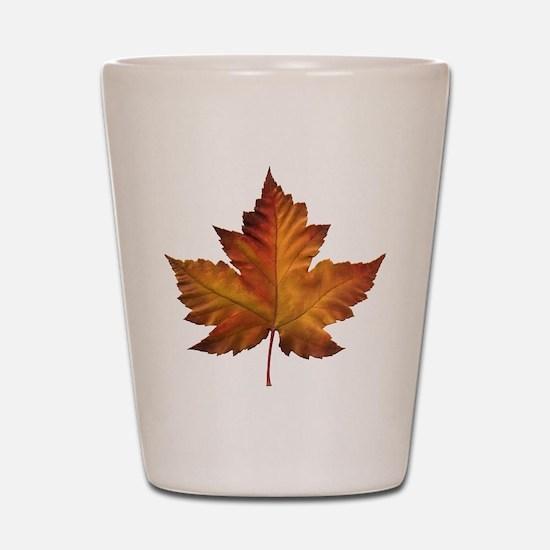 Canada Souvenir Maple Leaf Gifts Art Shot Glass