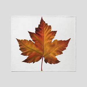 Canada Souvenir Maple Leaf Gifts Art Throw Blanket