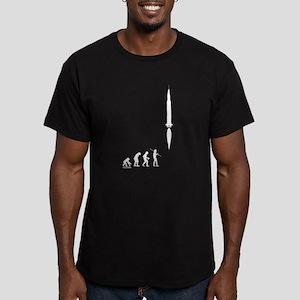 Astronaut Evolution Men's Fitted T-Shirt (dark)
