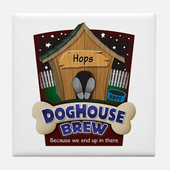 Doghouse Brew Tile Coaster