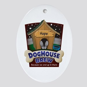 Doghouse Brew Ornament (Oval)