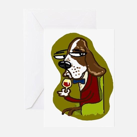Wine Hound Greeting Cards (Pk of 20)