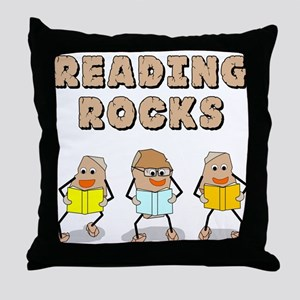 Reading Rocks Throw Pillow