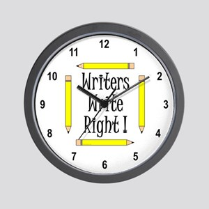 Writers Write Wall Clock