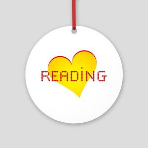 Reading Hearts Ornament (Round)