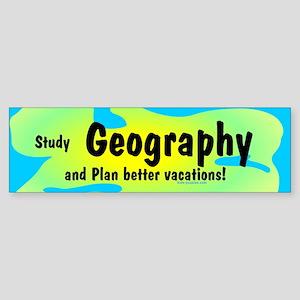 Geography Sticker (Bumper)