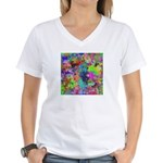 Computer Art Women's V-Neck T-Shirt