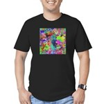 Computer Art Men's Fitted T-Shirt (dark)