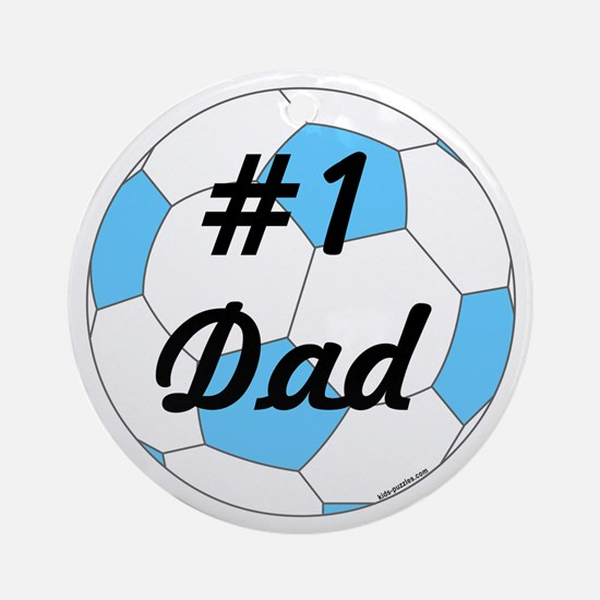 Number 1 Dad Round Ornament