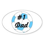 Number 1 Dad Sticker (Oval)