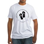 I Walk To Raise CDH Awareness Fitted T-Shirt