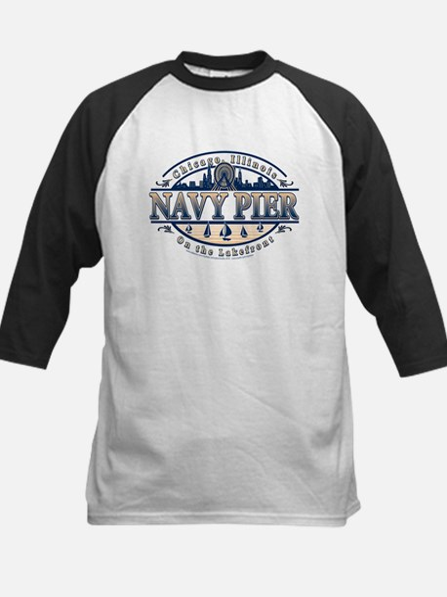 Navy Pier Oval Stylized Skyline design Tee