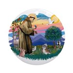 St Francis #2/ Shih Tzu #8 Ornament (Round)