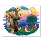 St Francis #2/ Shih Tzu #8 Small Poster